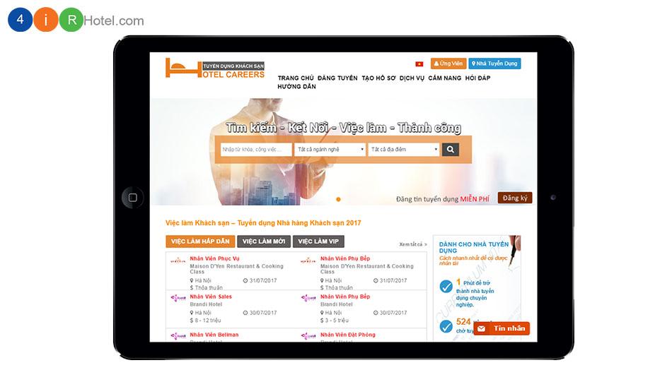 Đăng tin tuyển dụng, xem hồ sơ ứng viên Khách sạn/ Nhà hàng