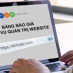 Quản Trị Website, Bảng Giá Quản Trị Web 2021